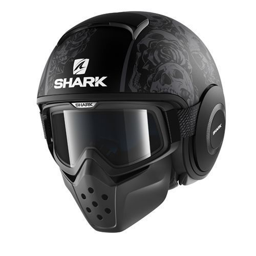 Casco jet Shark DRAK Blank Mat nero opaco