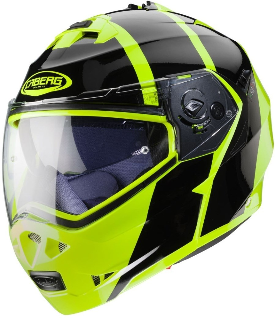 Casco modulare Caberg DUKE II Impact Yellow Fluo Black 3