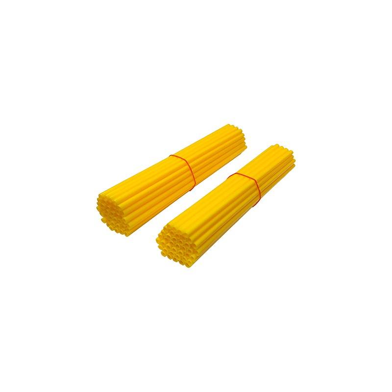 Kit copri raggi moto arancioni fluo 80 pz