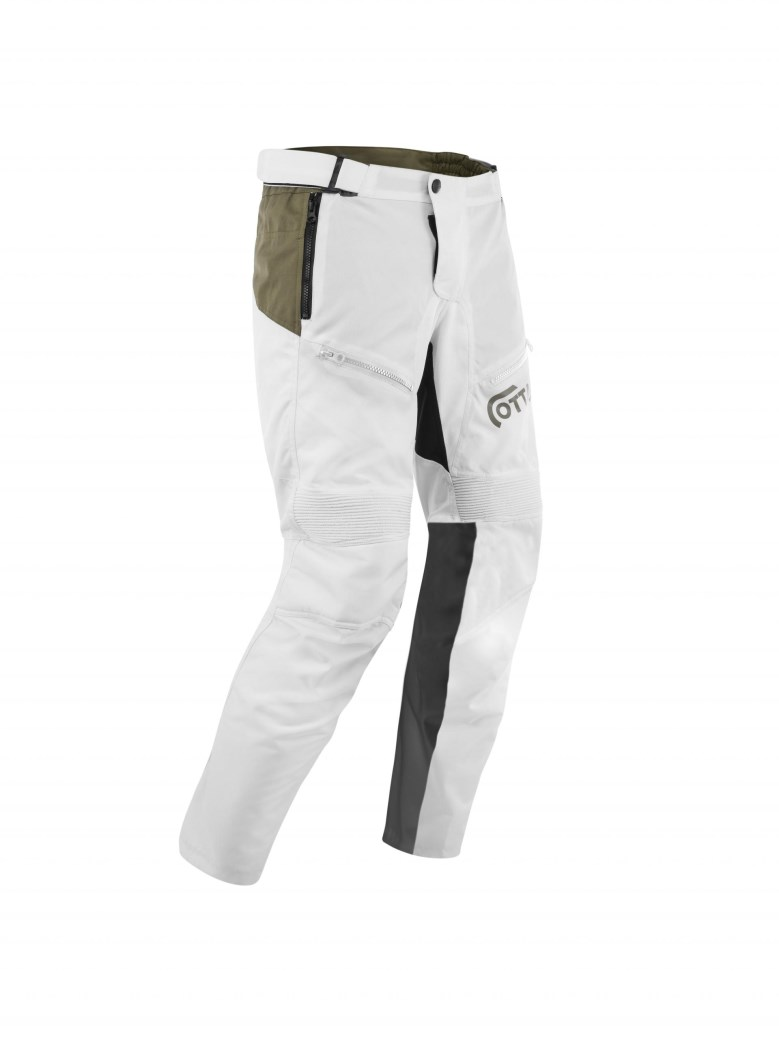 Pantaloni moto ADVENTURING Ottano 2.0 Bianco 3