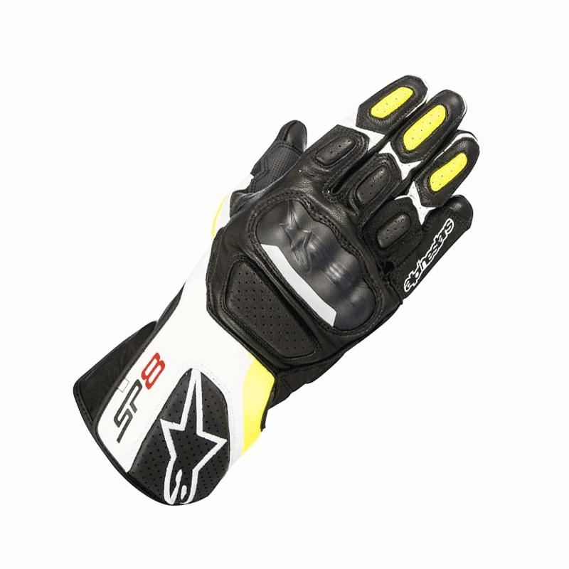 Guanti moto con protezioni Rev'it CHEVRON 2 Nero Bianco
