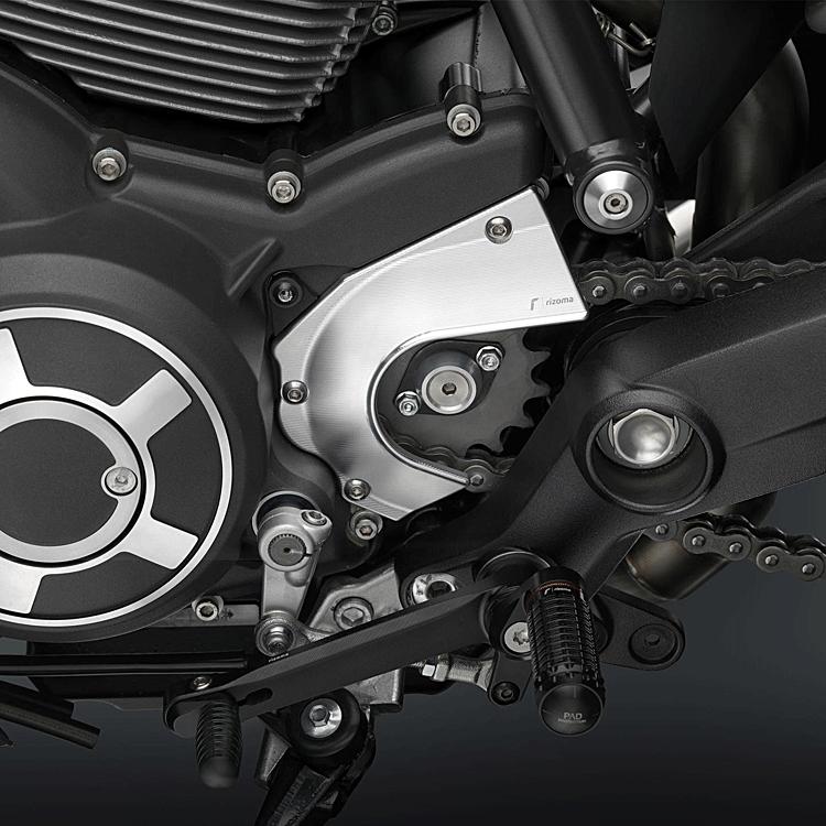 Carter catena in alluminio Rizoma per Ducati SCRAMBLER  ZDM124 2