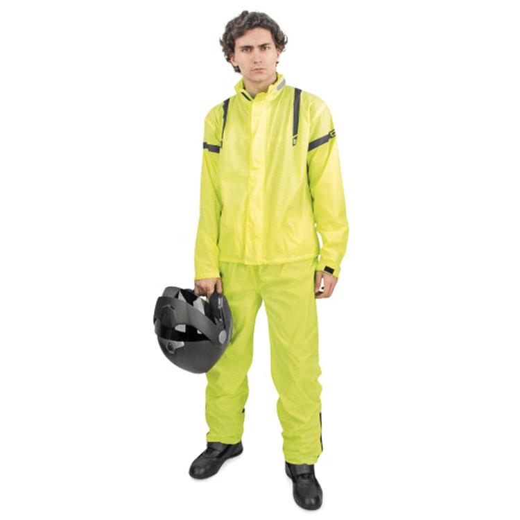 Pantaloni antipioggia Rev'it ACID giallo fluo