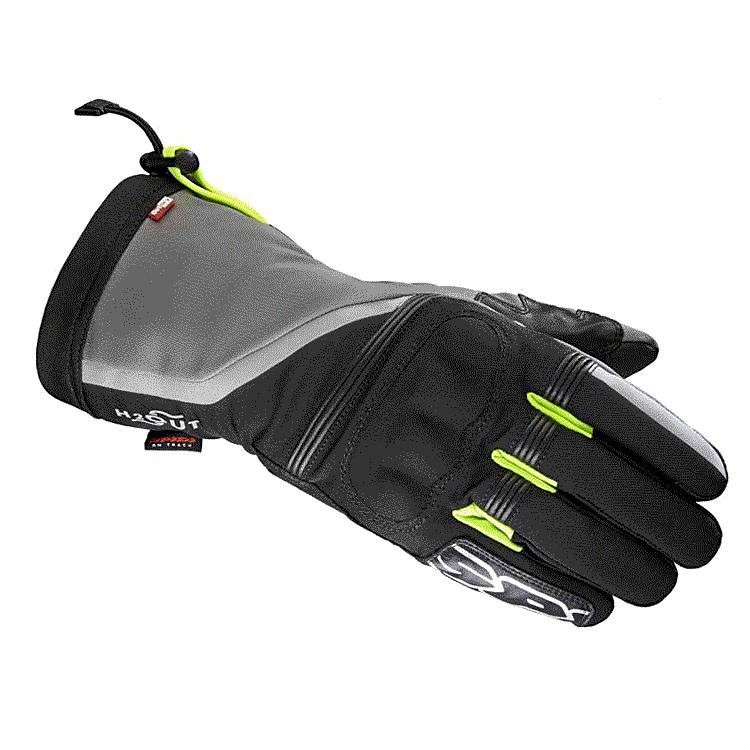 Guanti moto pelle racing con protezioni Spidi CARBO 7 Giallo Fluo Nero