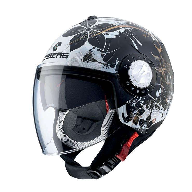 Casco jet HJC FG JET Acadia MC5 bianco perla nero
